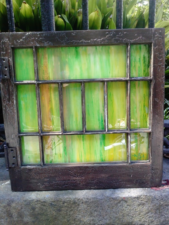 Green Attic Window by Maria Kramer