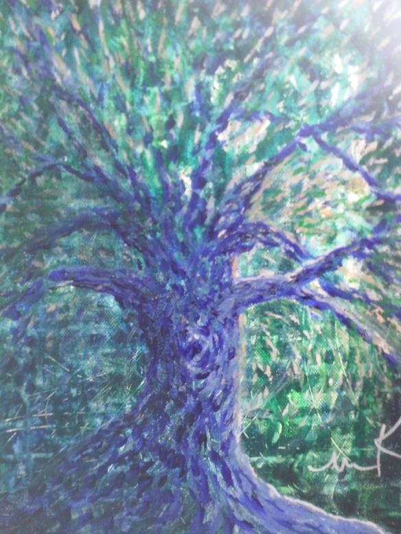 Dancing Purple Tree