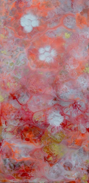 Abstract Flowers Coral and Pink #2