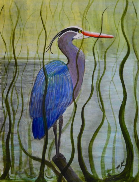 Blue Heron in the Marsh