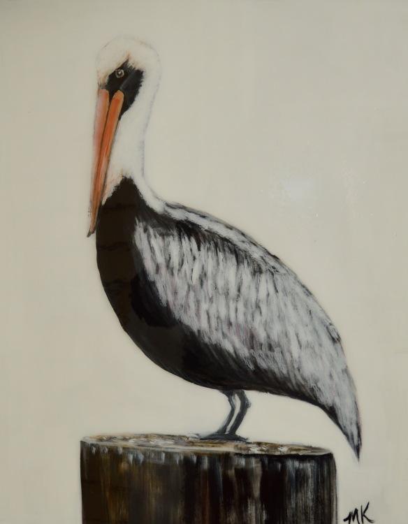 Louisiana Pelican with resin