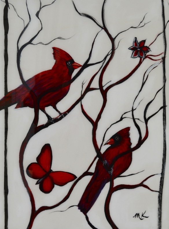 Two Cardinals and Butterfly